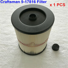 Craftsman 9-17816 17816 Filter Fits Craftsman Vacuums 5 Gallons and Above 1pcs