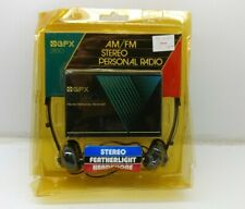 Vintage GPX  AM/FM Stereo Personal Radio 2830 New Sealed Hong Kong