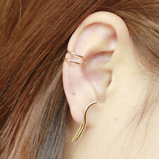 Gold Helix Ear Cuffs Cartilage Earring Climbers Simple No Piercing Ear Cuff
