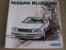 STUNNING NISSAN BLUEBIRD LAUNCH BROCHURE SET 1986 in English