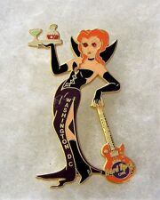 HARD ROCK CAFE WASHINGTON DC SEXY VAMPIRE GIRL HOLDING TRAY & GUITAR PIN # 10440