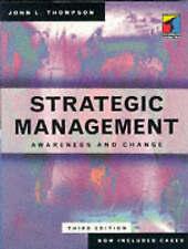 (Good)-Strategic Management: Awareness and Change (Paperback)-Thompson, John L.-