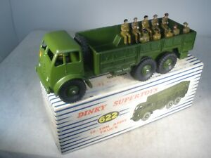 Dinky Toys Military 10 TON TRUCK #622 MINT/BOX WITH 11 DINKY TOYS SOLDIERS
