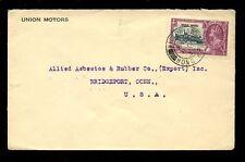 Hong Kong 1935 kg5 Jubileo De Plata De 20c franqueado a Connecticut... Unión motores Env