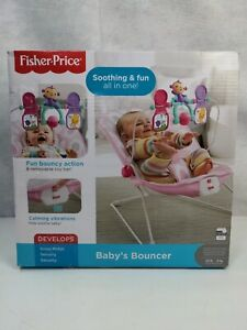 Fisher-Price Baby's Bouncer, Pink Ellipse, Soft, Padded, Adjustable
