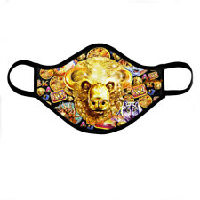 Buffalo Gold Head Slot Face Mask, Reusable Washable Casino Cover Mask