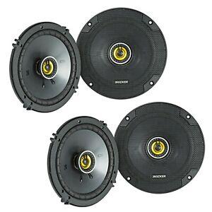 "4) Kicker 46CSC65 CS Series 6.5"" 600W RMS 2-Way Coaxial Car Audio Speakers"