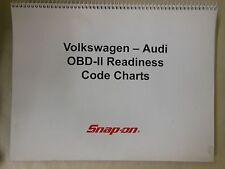 Snap On VW Audi OBD-II Readiness Code Charts 2004