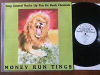 KING GENERAL BUCKS UP PON DE BUSH CHEMISTS / MONEY RUN TINGS RARE LP REGGAE/DUB