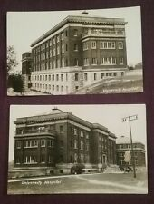 2 RPPC University Hospital Lisk Foto Lawrence? Kansas State University  ca.1920?