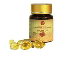 100% PURE & CERTIFIED ORGANIC REISHI SPORE OIL 500mg x 30 Softgels