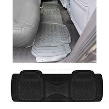 1pc Truck Heavy Duty Black Utility Rear Runner Rubber Floor Mat