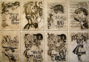 Rice Paper for Decoupage Scrapbook and Craft Alice in Wonderland 512