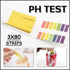 Test 240 Strips Full Range Litmus Alkaline 1-14 PH Testing Paper Acid Water