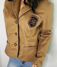 Nicole Miller Tan Crested Blazer Women's Size 14 Equestrian Style Riding Jacket