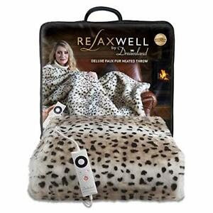 Dreamland Intelliheat Fast Heat up in 5 Minutes, Deluxe Leopard Print Faux Fur