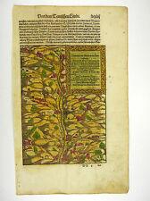 GRUBEN IM FURTELBACH ELSASS COSMOGRAPHIA SEBASTIAN MÜNSTER MUNSTER 1598 #D981S