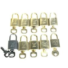 Louis Vuitton padlock and key set of 10 brass used 1396-11O40