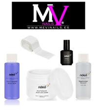 Liquido Acrilíco + Polvo acrilico Clear + Primer + cleaner + 50 toallitas  nded