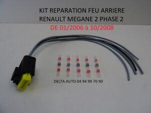 KIT DE RÉPARATION CONNECTEUR FAISCEAU FEU ARRIÈRE RENAULT MEGANE 2 PHASE 2 NEUF