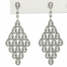 NEW Authentic Pandora Cascading Glamour Earrings Sterling Dangles 296321CZ Retd