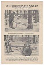 Illustrated Advertising Circular, The Folding Sawing Machine, 1919