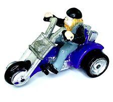 Micro Machines Harley Davidson Trike Bike Motorcycle Purple 3 wheeler Vehicle