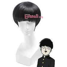 Anime Mob Psycho 100 Kageyama Shigeo Short Straight Black Bang Cosplay Wig