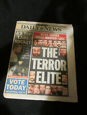 New York Daily News October 11 2001 9/11 Terrorist Most Wanted Full Newspaper