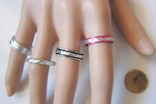 Lote 4 anillos aluminio colores nº 9 ó 18 mm diámetro medio bisutería r-39
