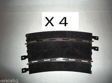 4 Curvas Superexteriores Scalextric  analógicas , negras Nuevas  1/32 News