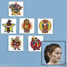 36 Birthday Party Favor CARNIVAL Big Top CIRCUS TATTOOS