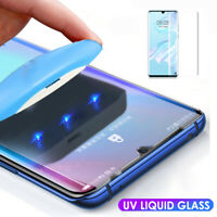 For Huawei P30 Pro Mate20 Lite 6D UV Liquid Full Tempered Glass Screen Protector