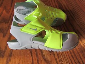 NIKE SUNRAY PROTECT 2 VOLT/WOLF GREY BOY'S SANDALS SIZE 12C NWT