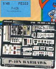 eduard - P-40N Warhawk für Hasegawa Bausatz Ätzteile Ätzsatz Instrumente 1:48