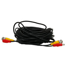 Surveillance 50Ft Video Cable BNC DC Extension Cable for CCTV Camera RCA Cord