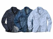 Damen Jeanshemd Western Country Jeansbluse Hemd Denim auswahl