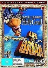 MONTY PYTHON AND THE HOLY GRAIL/LIFE OF BRIAN John Cleese 3DVD NEW