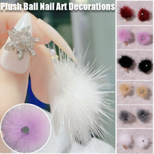 1PC 3D Plush Ball Nail Jewelry DIY Nail Art Decorations with Detachable Magnet