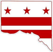aufkleber sticker decal flagge fahne landkarte karte washington dc amerika