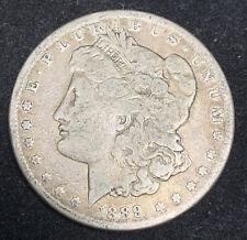 Golden Toned 1889-CC Morgan Silver Dollar $1 KEY DATE Carson City