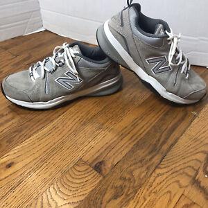 Balance 608v5 Classic Comfort Trainer Grey Suede Sneakers Men's 8 LNC