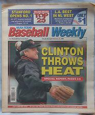 1995 USA Today Baseball Weekly Bill Clinton 2/21/95