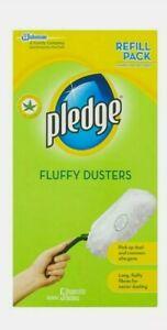 2 x Pledge Fluffy Dusters (2x5 Pack) Refills Dust It
