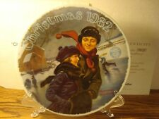 """Vintage Norman Rockwell """"Christmas Courtship"""" 1982 Collectible Plate Fine China"""