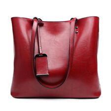 Women Designer PU Leather  Shoulder Tote Large Handbag Laptop Bag Ladies