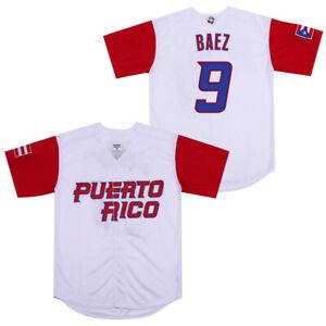 Javier Baez Puerto Rico World Classic Baseball Jersey Men Large