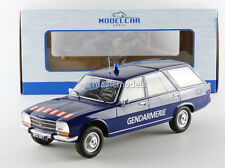 MCG 1976 Peugeot 504 Break Gendarmerie Blue in 1/18 Scale New! In Stock!