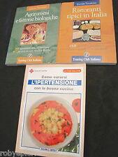 Lotto 3 libri curarsi l'ipertensione con la buona cucina agriturismi ristoranti