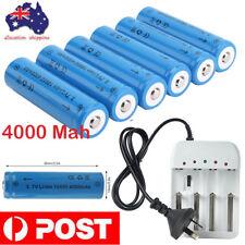 10X 18650 Lithium Li-ion Rechargeable Battery+ LED Smart Intelligent AU Charger